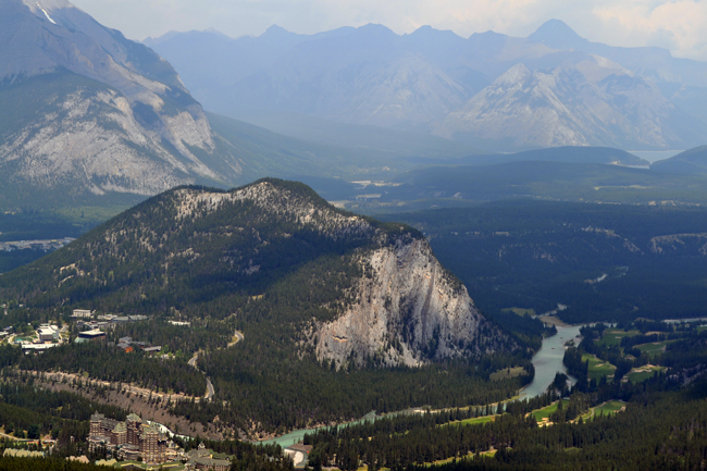 View of Banff Alberta Canada from the gondola