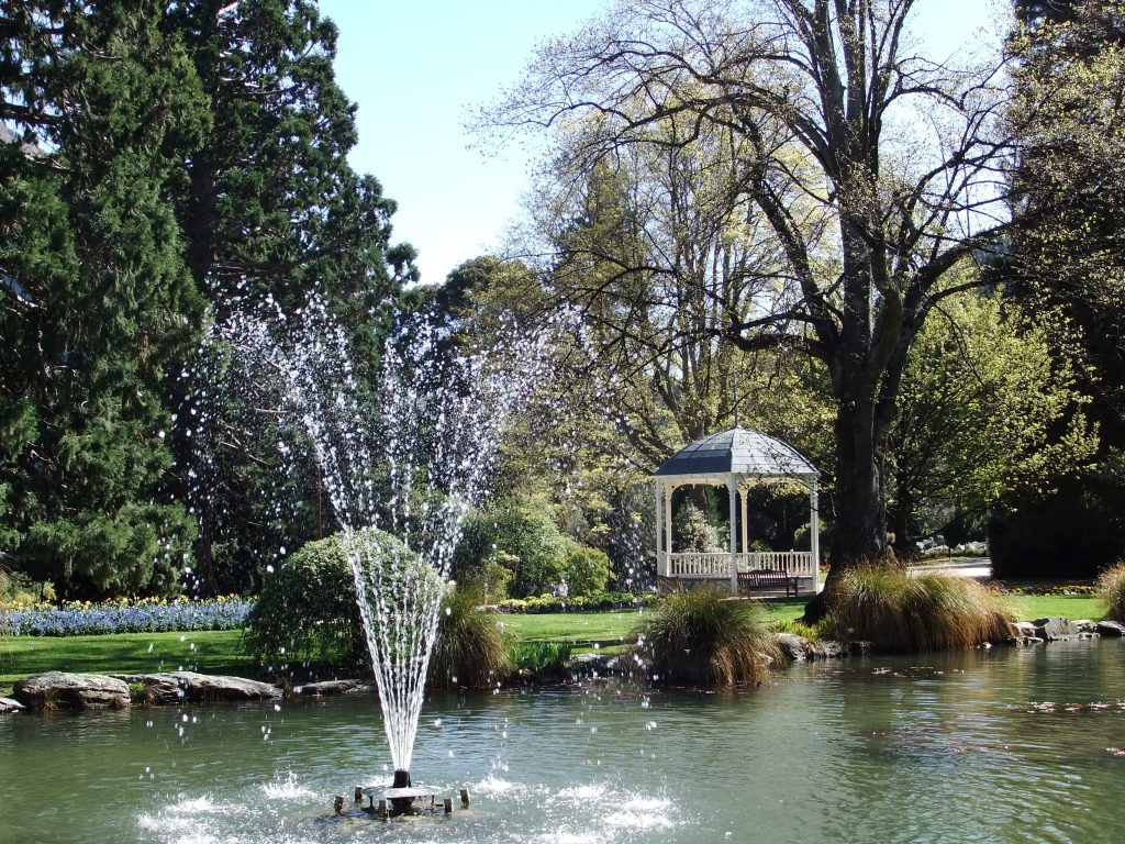 Things to do in Queenstown - The water fountain in the Queenstown Botanic Gardens